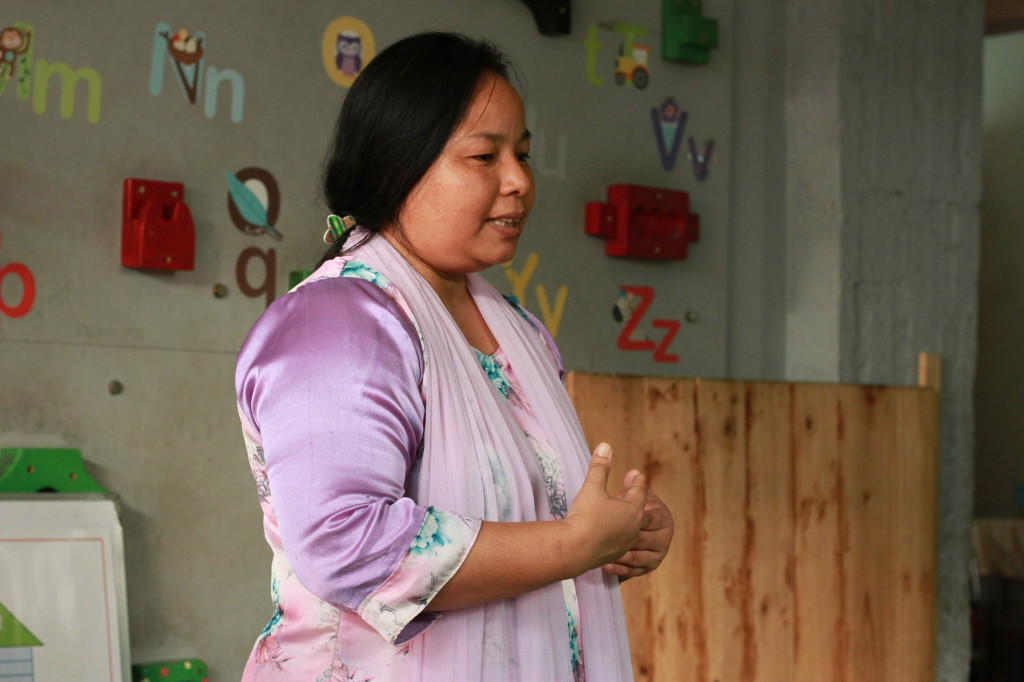 Sandhya teaches skills for child and parent bonding and interaction.